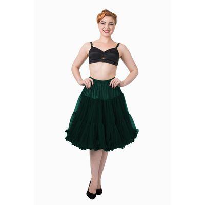 Foto van Petticoat Starlite over de knie met extra volume, bottle green