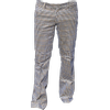 Afbeelding van Pantalon Squares, babycord créme met bruin geruit, uitlopende pijpen