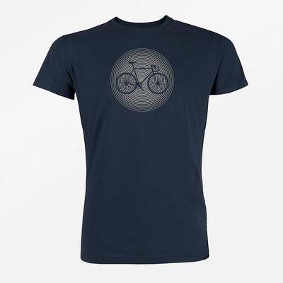 Foto van Green Bomb   T-shirt Bike circle, bio katoen navy