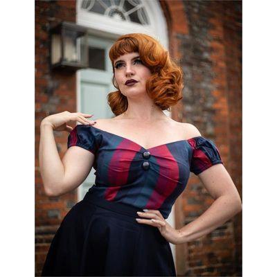 Collectif   Top Dolores Jewel Stripe