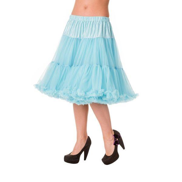 Petticoat Starlite over de knie met extra volume, licht-blauw