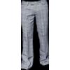 Afbeelding van Chenaski | Pantalon Bakerstreet, zwart met witte ruit, wijde pijpen