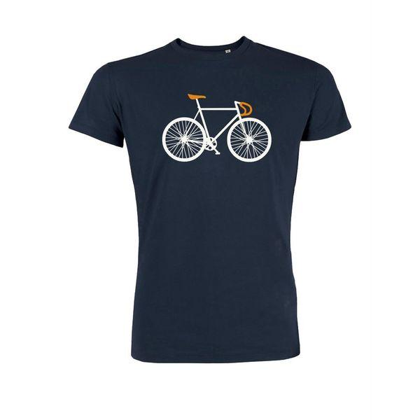 Green Bomb   T-shirt Bike Two Navy