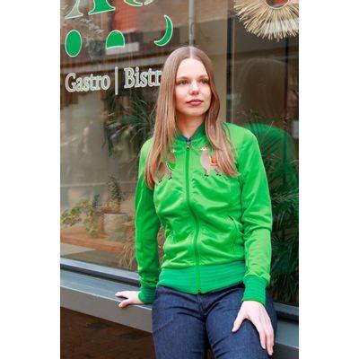 ATO Berlin   Sportjas Anne, lentegroen met alpaca borduursels