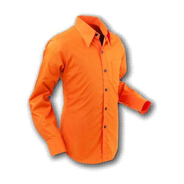 Chenaski | Overhemd 70s Basic Orange