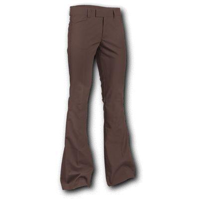 Foto van Chenaski | Pantalon met uitlopende pijp Bruin
