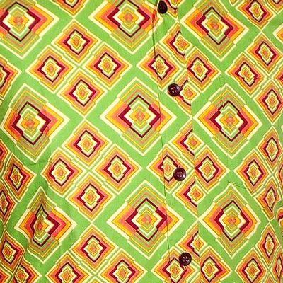 Foto van Chenaski   overhemd seventies, Rhombus licht groen