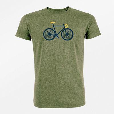 Foto van Green Bomb | T-Shirt bike free bio katoen heather khaki