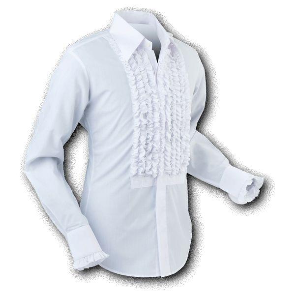 Chenaski | Overhemd ruche, white white trim