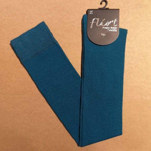 Flirt   Overknee sokken blauw