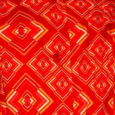 Foto van Chenaski | korte mouw 70's jurk, Rhombus rust