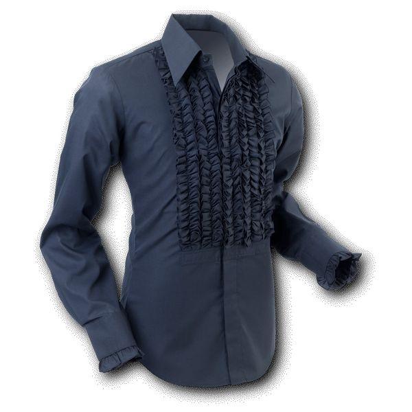 Chenaski   Overhemd ruche, black black trim