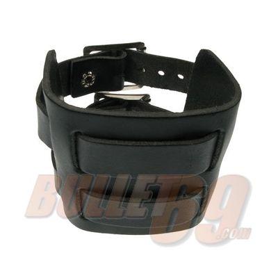 Foto van Bullet69 - Leren armband, 70mm - grijs doorwoven met twee bandjes-18mm