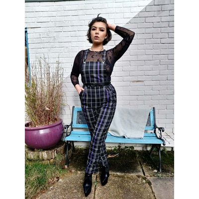 Foto van Collectif | Tuinbroek Rada Nancy, paarse tartan