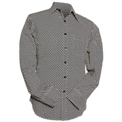 Foto van Chenaski | Overhemd Retro 2-Tone zwart wit