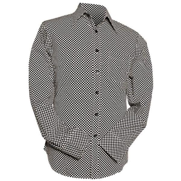 Chenaski | Overhemd Retro 2-Tone zwart wit