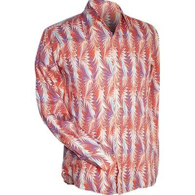 Chenaski | overhemd seventies, Feathers creme oranje