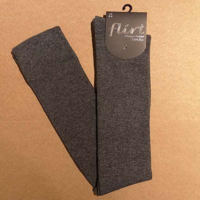 Flirt | Overknee sokken donkergrijs