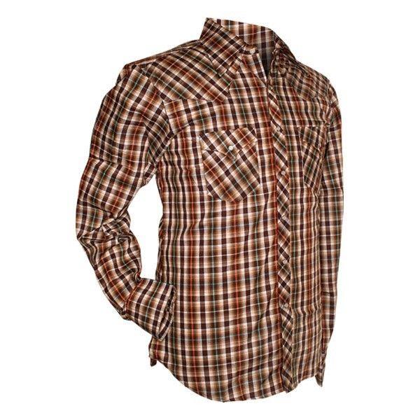 Chenaski, cowboy overhemd checked brown