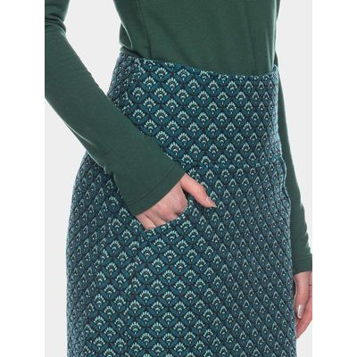 Foto van ATO Berlin | rok Hilly turquoise jacquard, brede tailleband