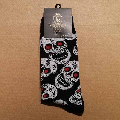 Foto van BIGSKULL-Love Sox-Sokken met skelet print