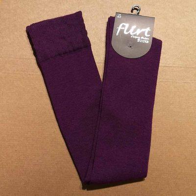 Foto van Flirt | Overknee sokken effen paars