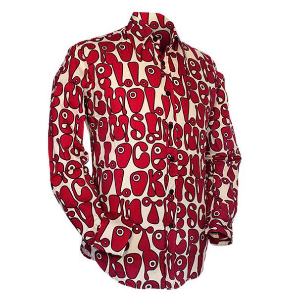 Chenaski | Creme rood seventies overhemd Moloko