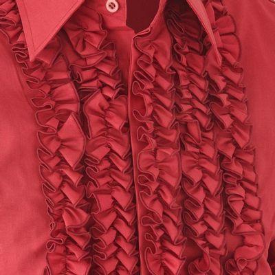 Foto van Chenaski | Overhemd ruche, burgundy met dark burgundy trim
