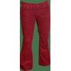 Afbeelding van Ribcord retro broek bordeaux, wijde pijp normale lengte