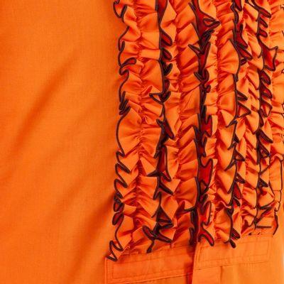 Foto van Chenaski | Overhemd ruche orange brown trim