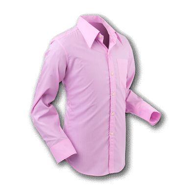 Chenaski   Overhemd 70s Basic Rose-Pink