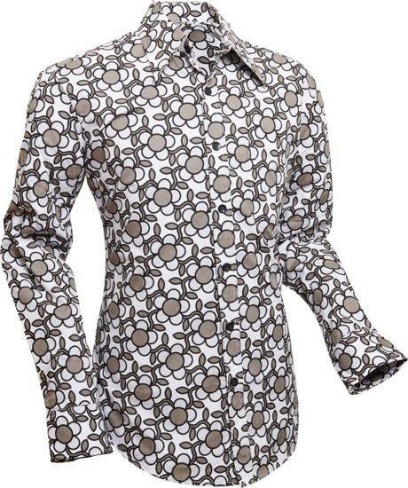 Chenaski   Overhemd Seventies Flowergrid, grey