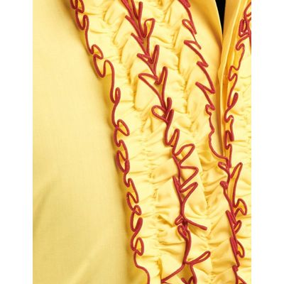 Foto van Chenaski | Overhemd ruche yellow red