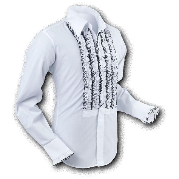 Chenaski   Overhemd Ruche White-Black