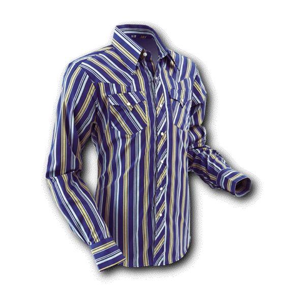 Overhemd Cowboy Blue Stripes