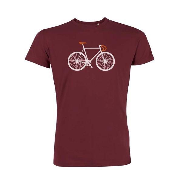 Green Bomb   T-shirt Bike Two Burgundy