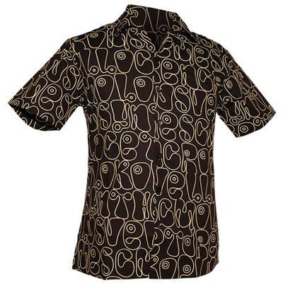 Foto van Chenaski | Overhemd korte mouw, Moloko zwart wit