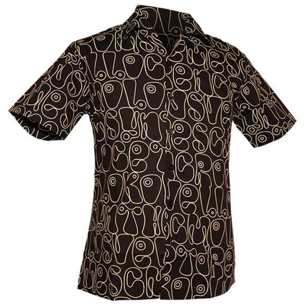 Chenaski | Overhemd korte mouw, Moloko zwart wit