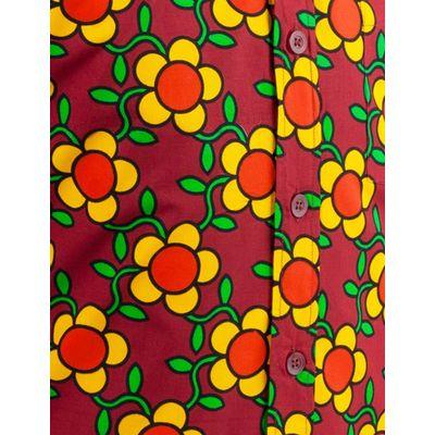 Foto van Chenaski   overhemd Seventies Flowergrid Bruin