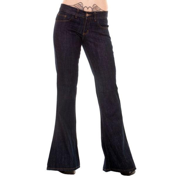 Jeans Seventies Bellbottom Donkere Denim