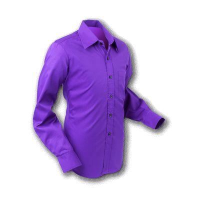 Chenaski | Overhemd 70s Basic Dark Violet