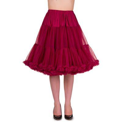 Foto van Petticoat Starlite over de knie met extra volume, bordeaux