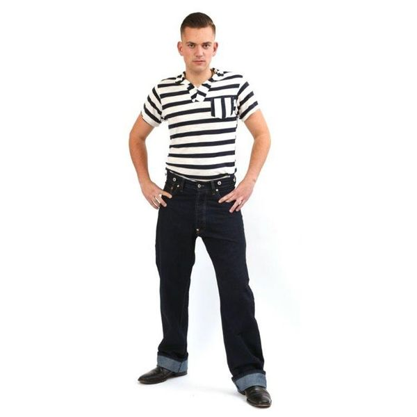 Jeans 40s Raw Denim Mens
