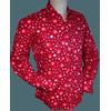 Afbeelding van Chenaski   overhemd seventies, Dots and Spots bordeaux