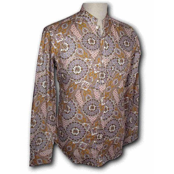 Chenaski | overhemd Seventies Mao Paisley lilac