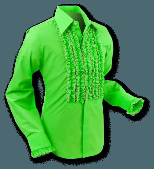 Chenaski | Overhemd Ruche Lime