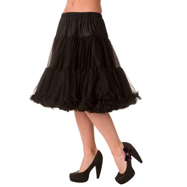 Petticoat Starlite over de knie met extra volume, zwart