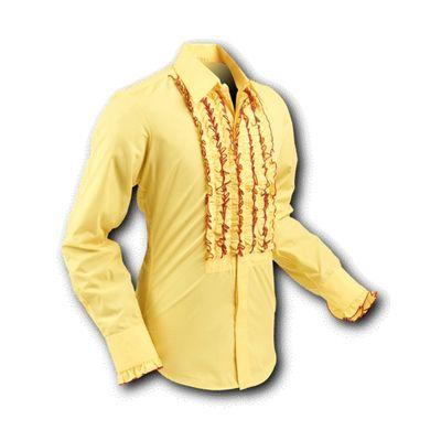 Chenaski | Overhemd ruche yellow red