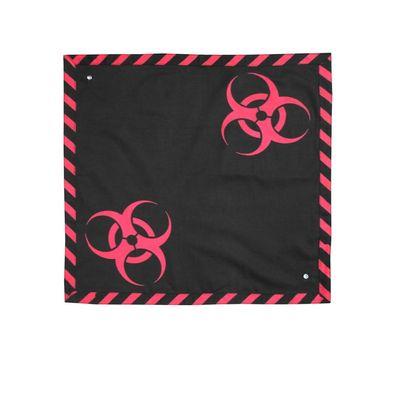 Foto van Bandana met Rode Biohazard Symbolen