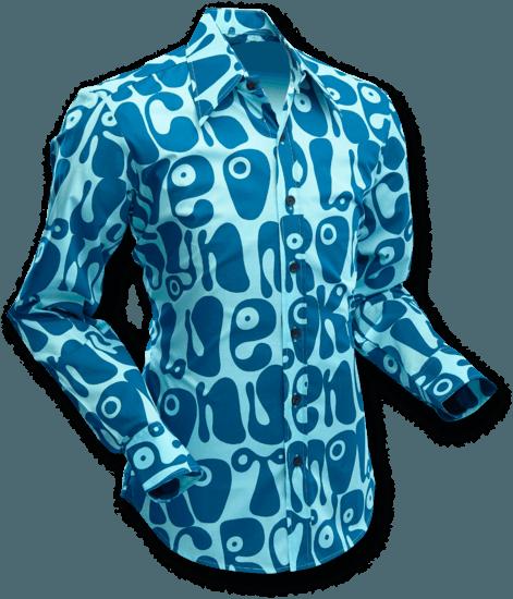 Chenaski | Overhemd Moloko Lichtblauw Petrol